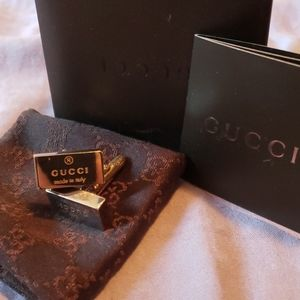 Authentic Gucci Sterling Silver Cuff Links